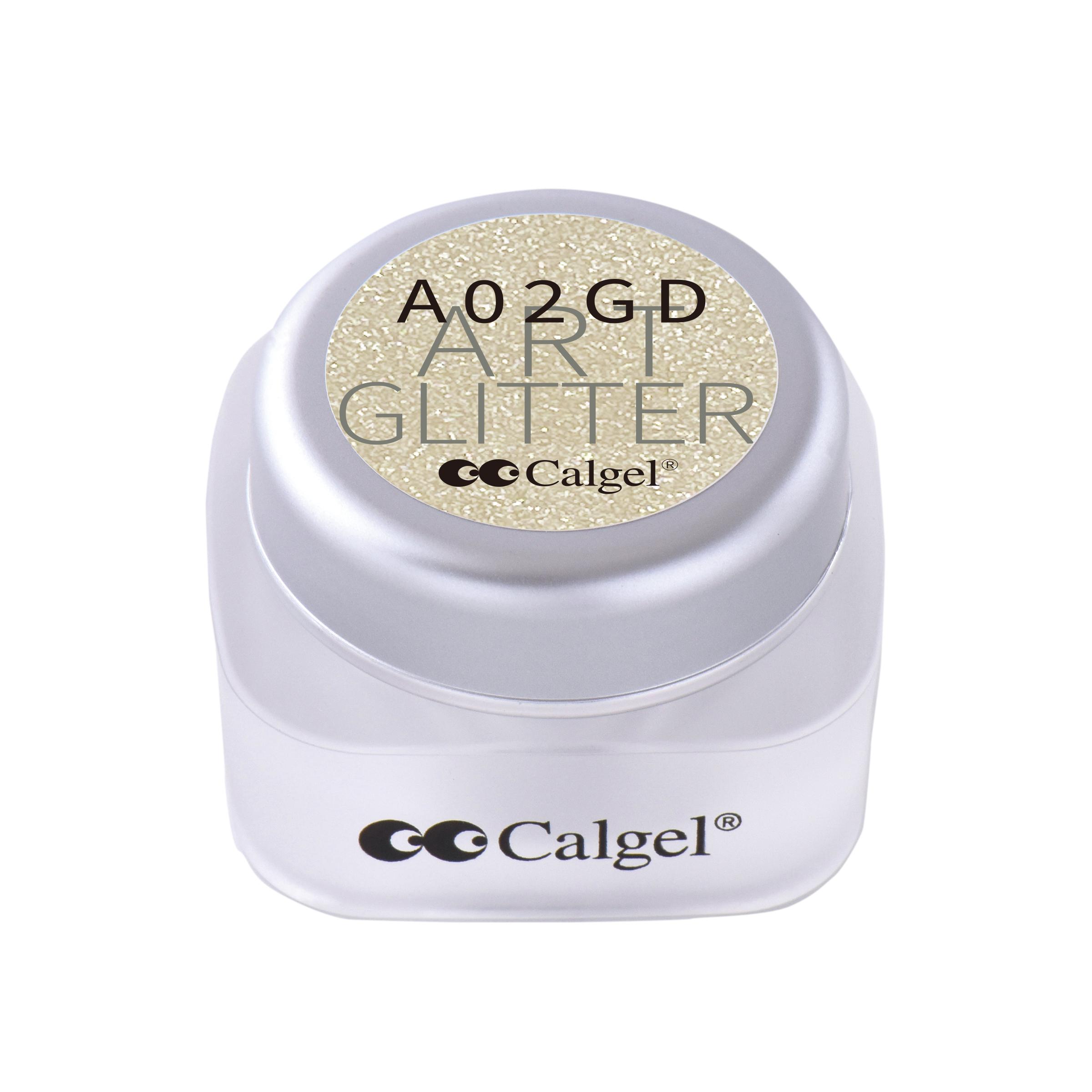 CGA02GD カラーカルジェル プラス アート グリッター プラチナゴールド